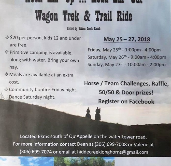 2nd Annual  Hook 'em up, head 'em out Wagon Trek & Trail Ride