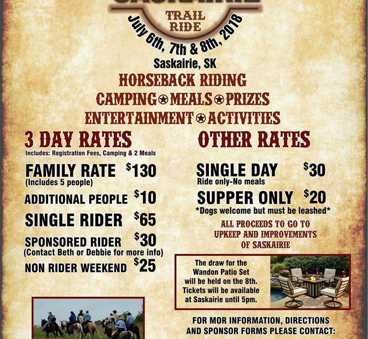 4th Annual Saskairie Trail Ride