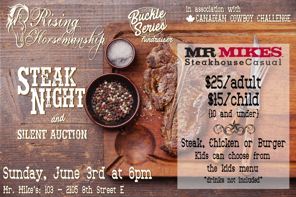 Rising Horsemanship Steak Night and Silent Auction