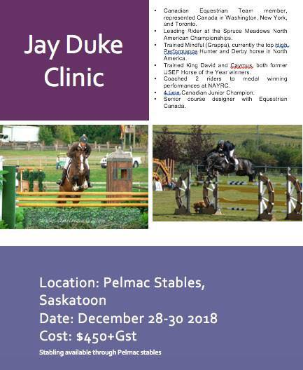 Hunter Jumper Jay Duke Clinic Pelmac Poster