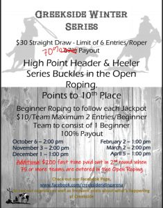Creekside Roping Jackpot Series Melfort Poster