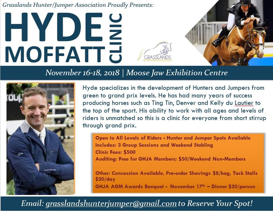 Hyde Moffatt Hunter Jumper Clinic Poster