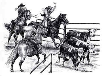 Red River Riding Roping Team Penning Jackpot
