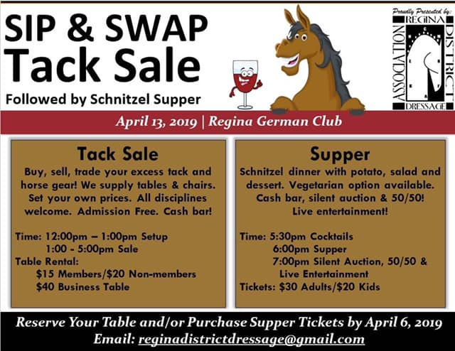 Tack Sale and Supper