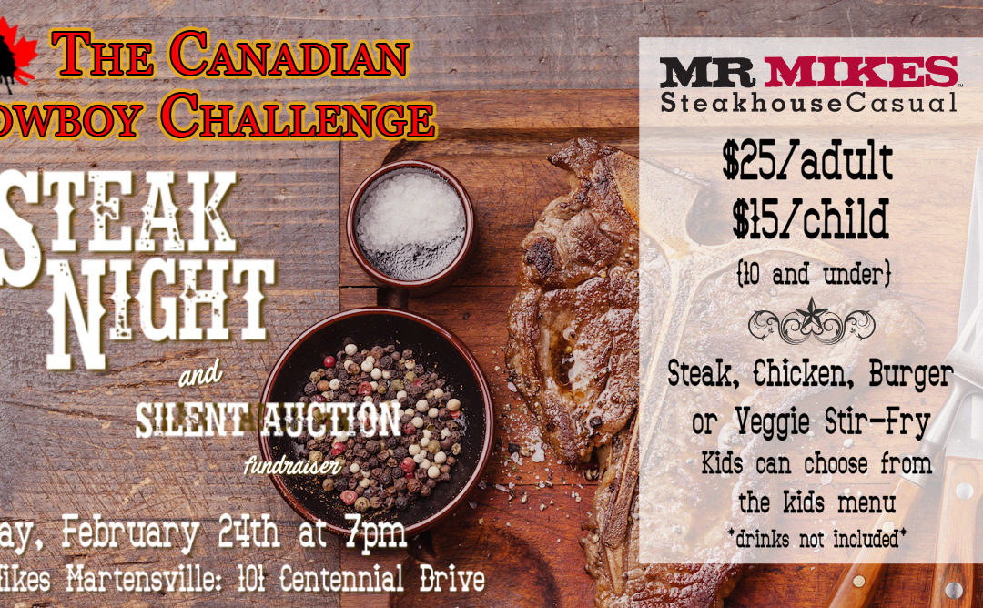 Steak Night and Silent Auction